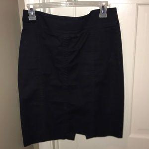 Ann Taylor Navy Blue Pencil Skirt